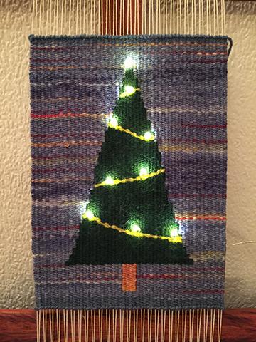 Martina Mueller, LED tapestry tree