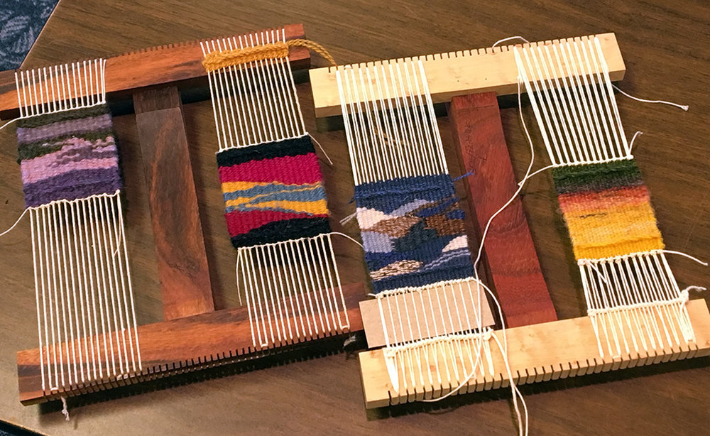 Small pieces on Hokett looms, Colorado 2017 retreat