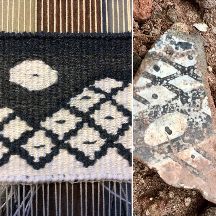 More examples of the tapestry diary I did at Petrified Forest