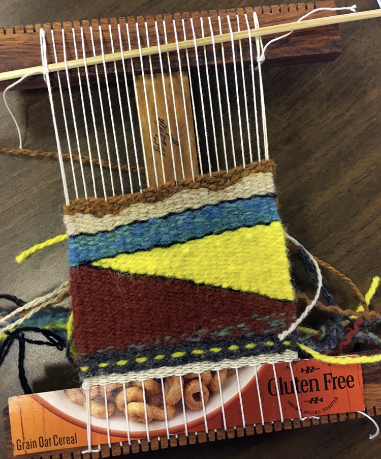 Elisabeth's weaving