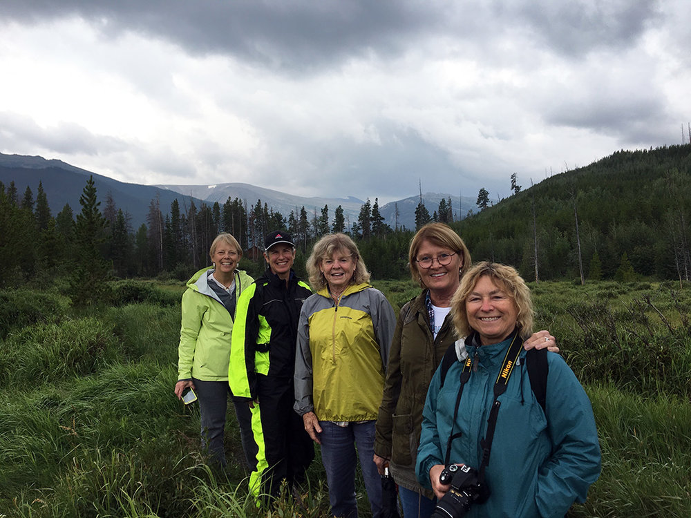 Group hike in August 2017