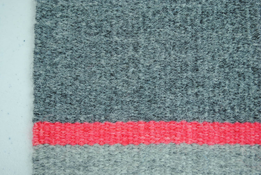 Sample woven with Frid Vevgarn, 2 strands at 8 (or maybe 10) epi.