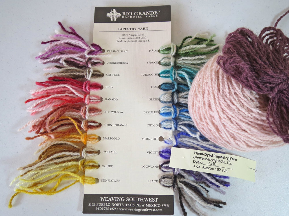 An old Weaving Southwest yarn card: contact them for a new one.