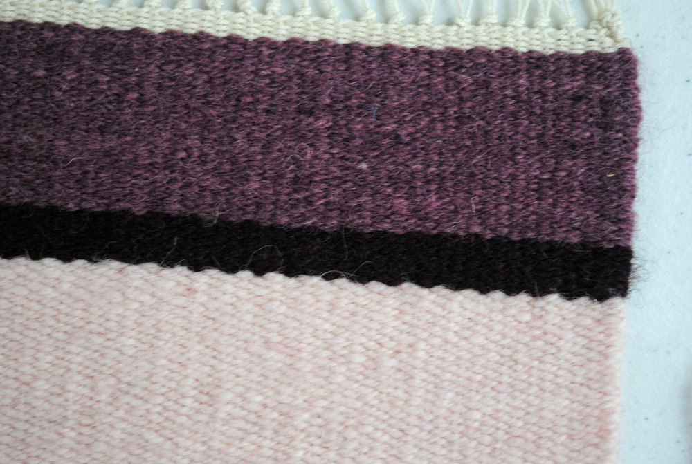 Woven sample at 8 epi. This yarn will not cover the warp at 10 epi.