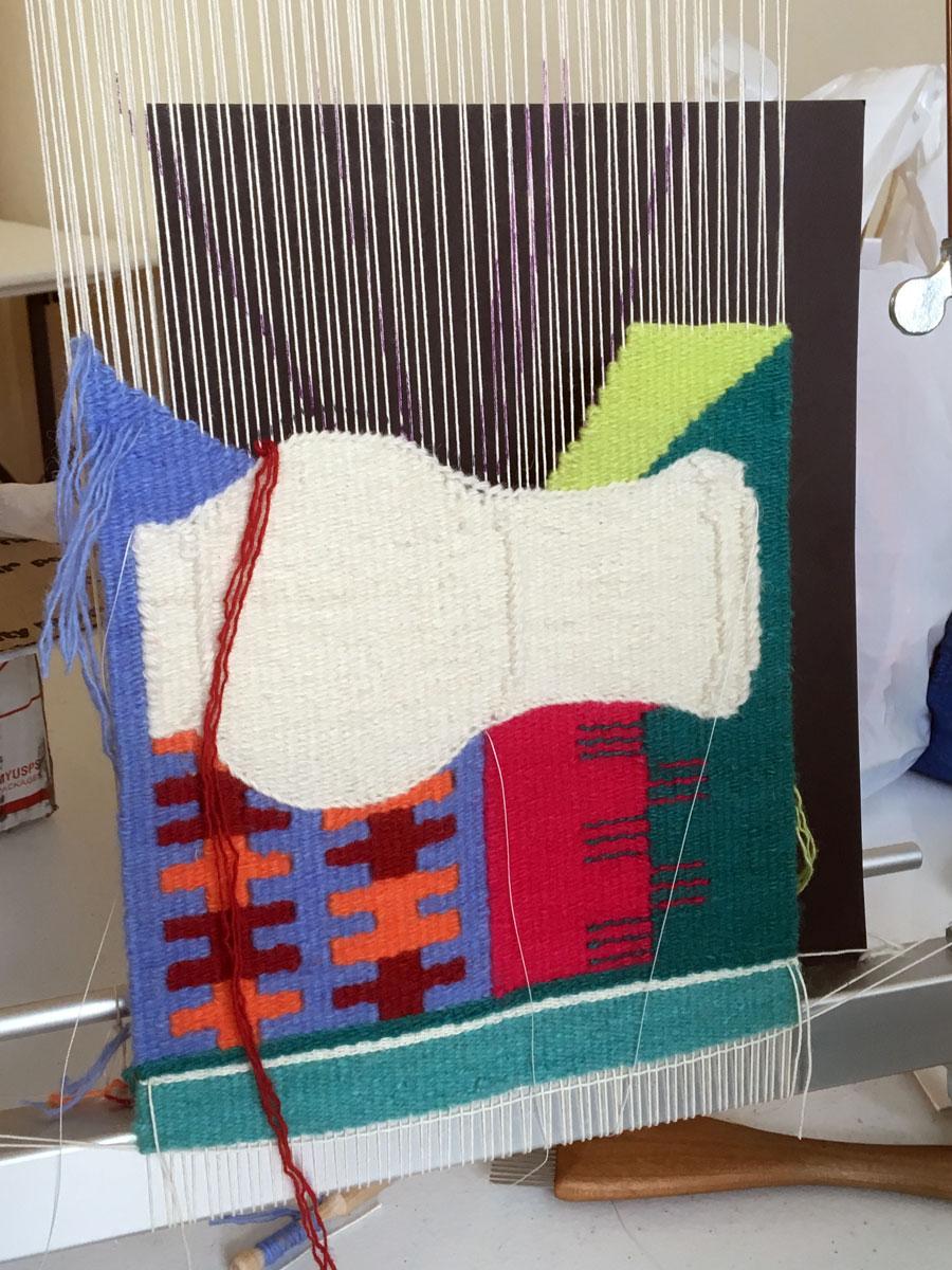 Karen's sample weaving