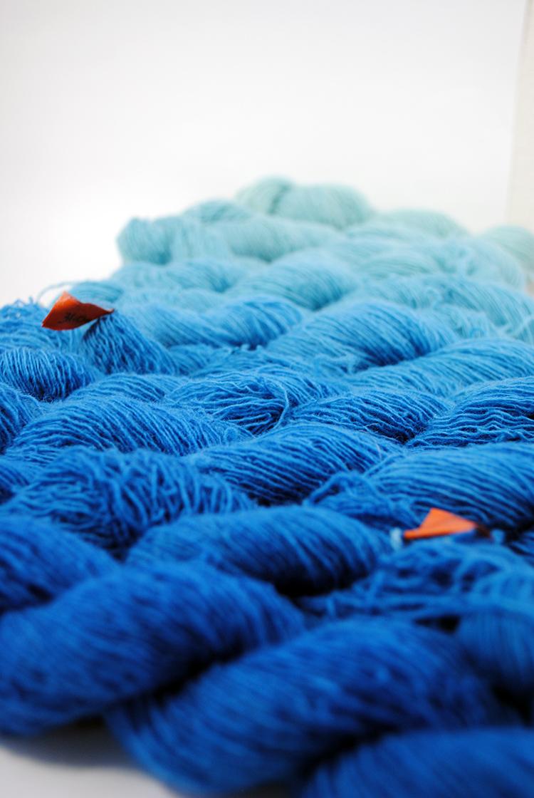 Rebecca Mezoff, hand-dyed tapestry yarn 2018