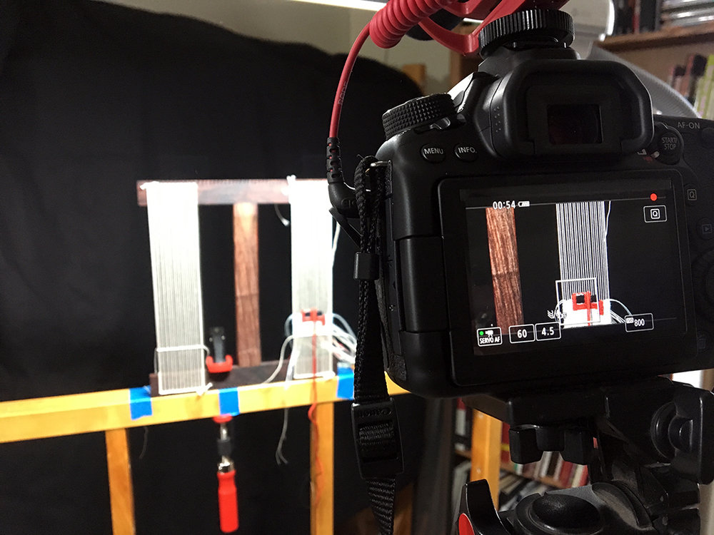 Even if you warp a floor loom from the front, a spool rack can still come in handy. Shooting some of the footage for the video in this poast.