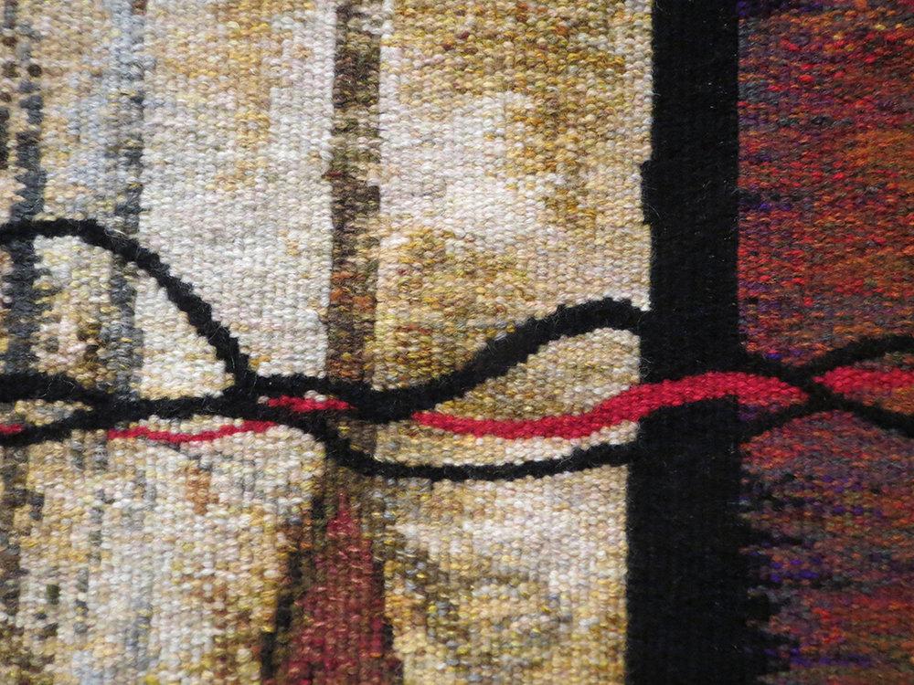 Suzanne Paquette,  Cordes Sensibles,  tapestry detail