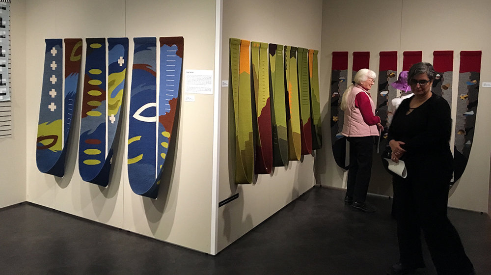 Susan Iverson's work in the show, FABRICations at the Avenir Museum of Colorado State University.  The Surface, Verdant,  and  Beyond .