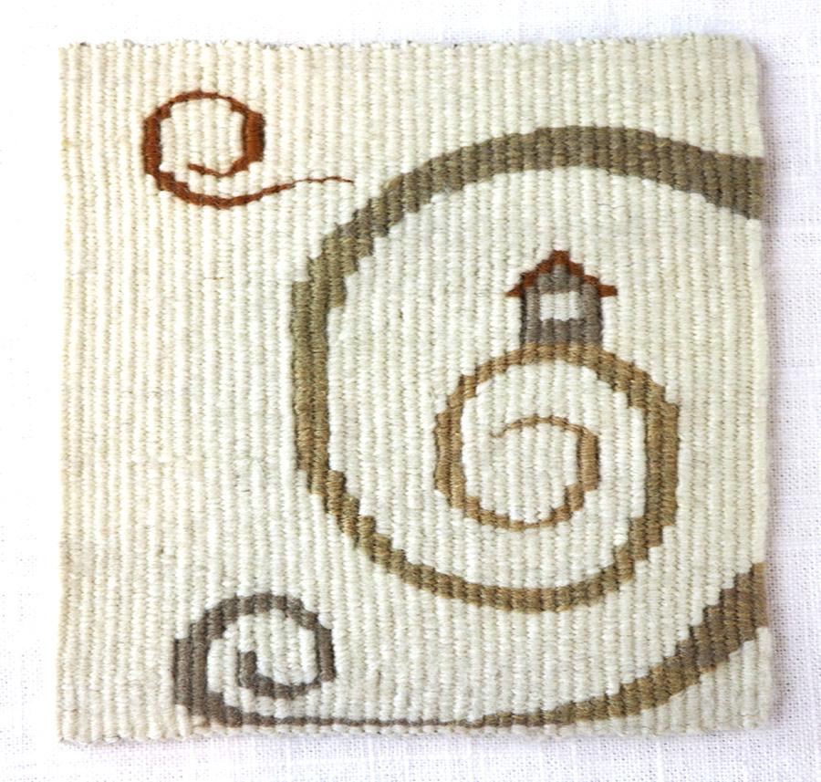 Sarah C. Swett, four selvedge tapestry