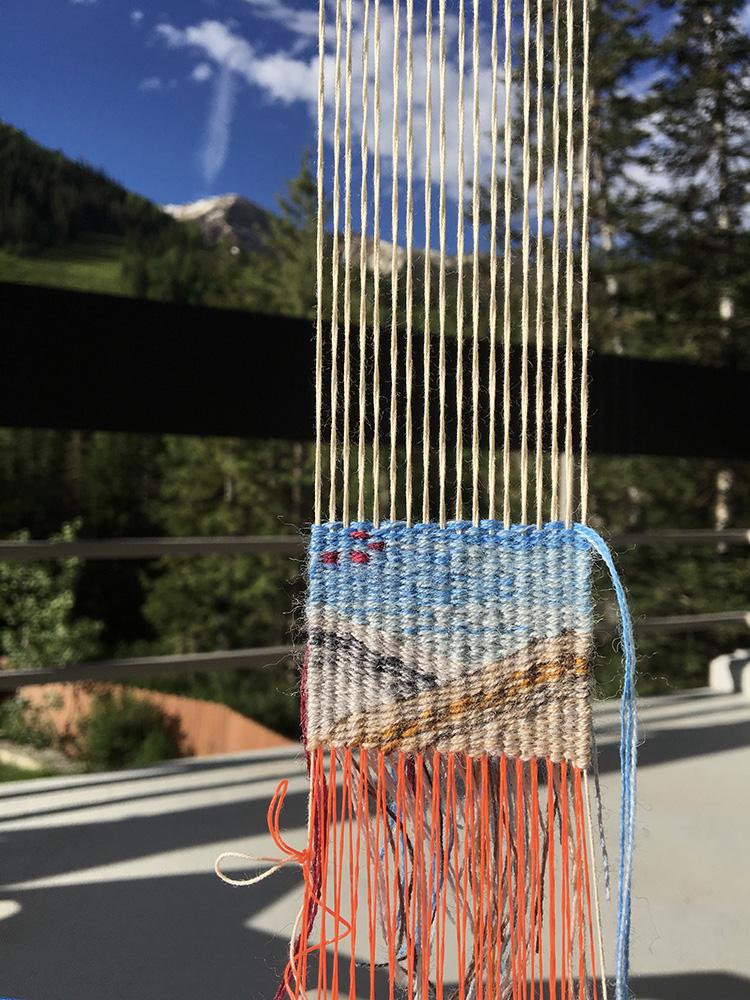Four selvedge tapestry weaving, Snowbird, UT
