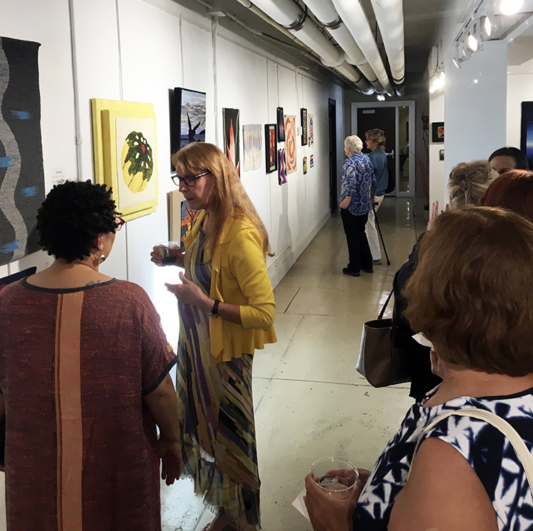 Warp and Weft  opening, August 14, 2018