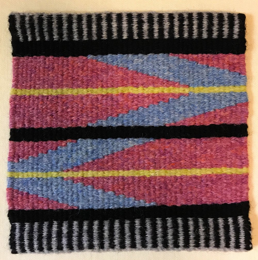 Sharon Carey, tapestry from  Warp and Weft  online course with Rebecca Mezoff