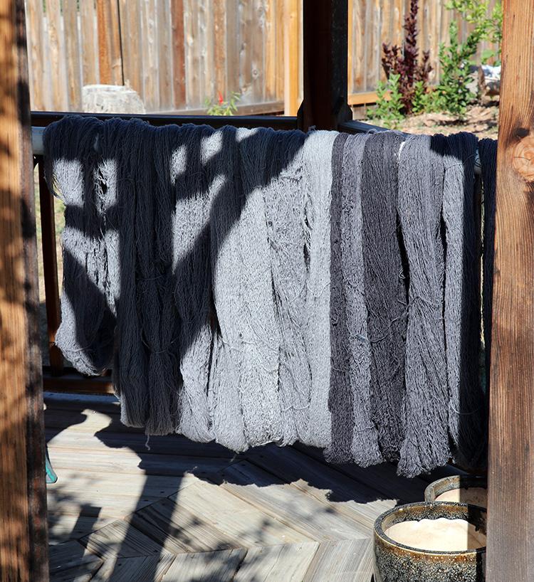 Gray yarn drying