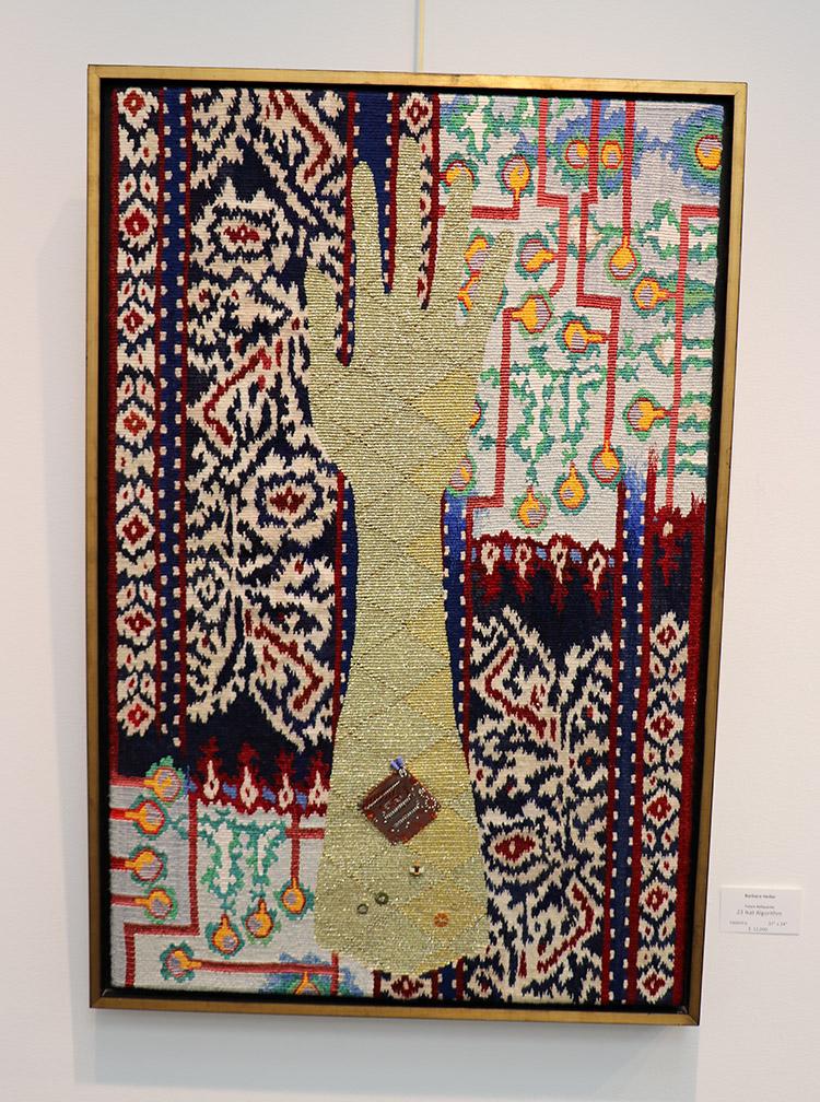 Barbara Heller,  Future Reliquaries, Ikat Algorithm,  37 x 24 inches
