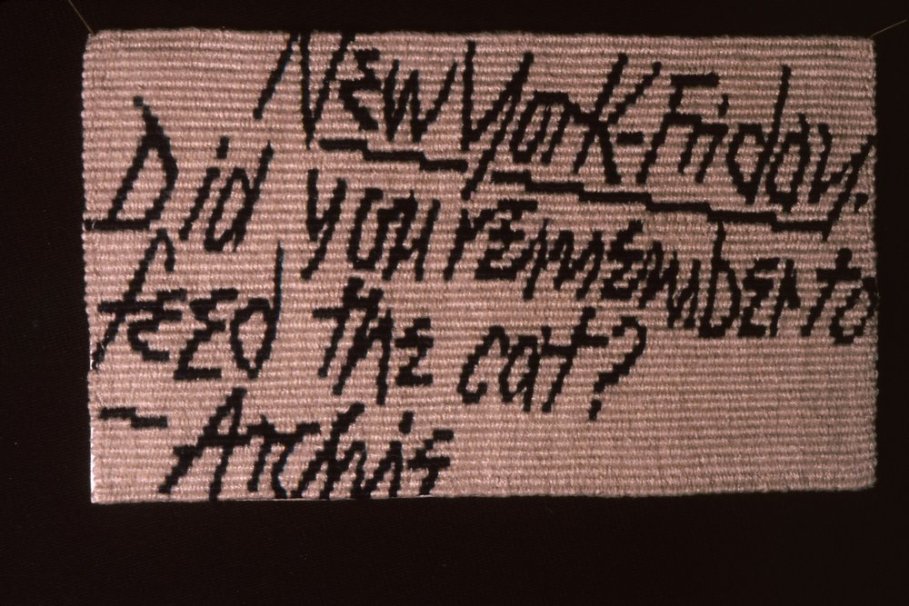 Archie Brennan, postcard tapestry