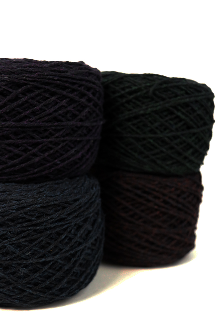 Nightshades yarn by Harrisville Designs. Notably difficult to photograph!