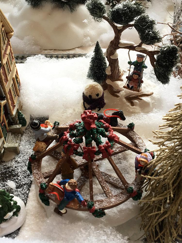 New Mexico Christmas village snowman