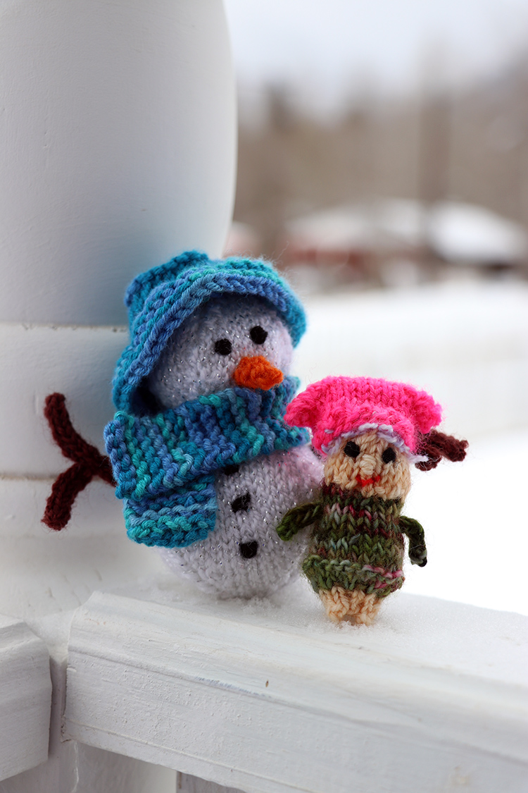 She will bring her snowman buddy since it is January and he won't melt..