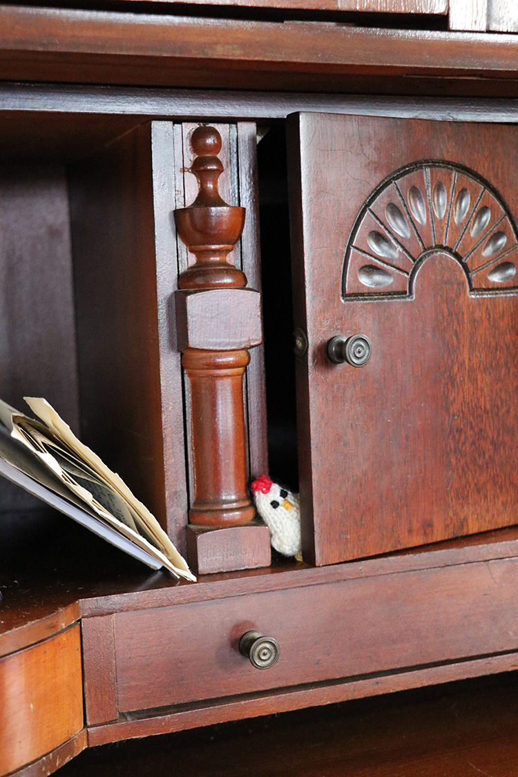 One was spotted hiding in this secretary desk in a cabin from the 1880s in the Colorado mountains.