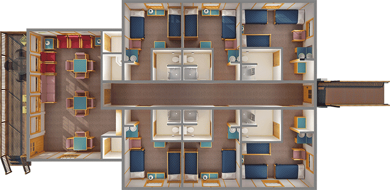 Conference Cabin layout
