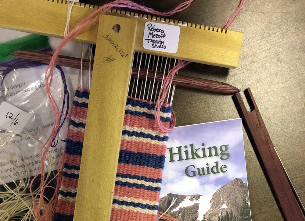 CSU weaving with hiking guide