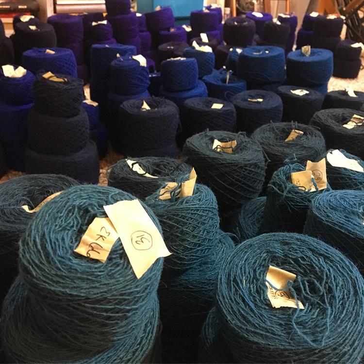 Rebecca Mezoff, tapestry yarn sorting