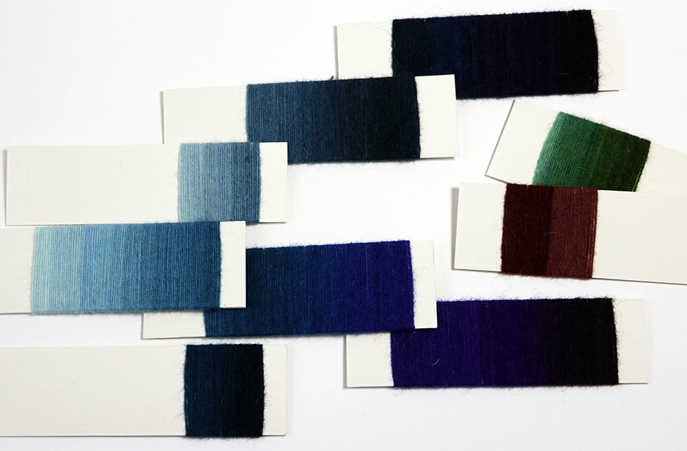 Rebecca Mezoff, yarn wrap examples for a tapestry design