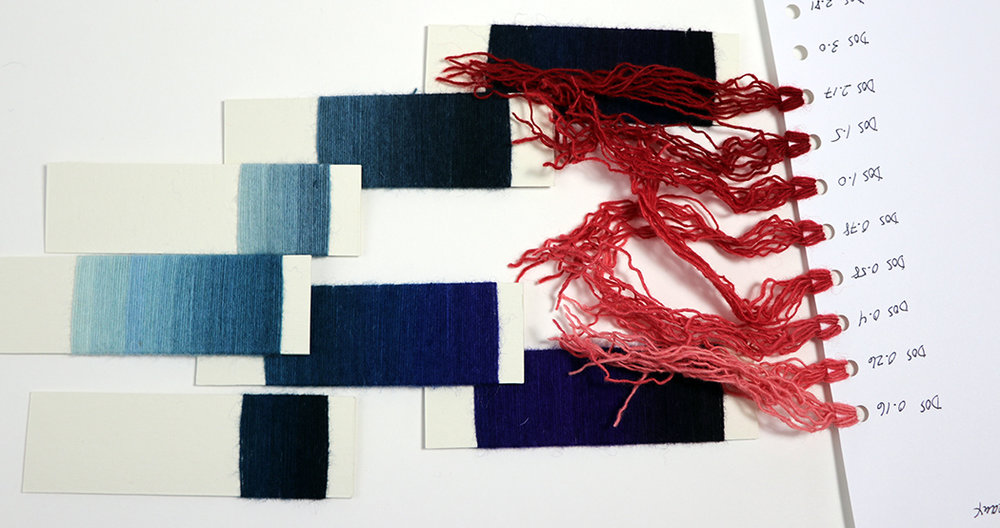 Rebecca Mezoff, designing for tapestry with yarn wraps