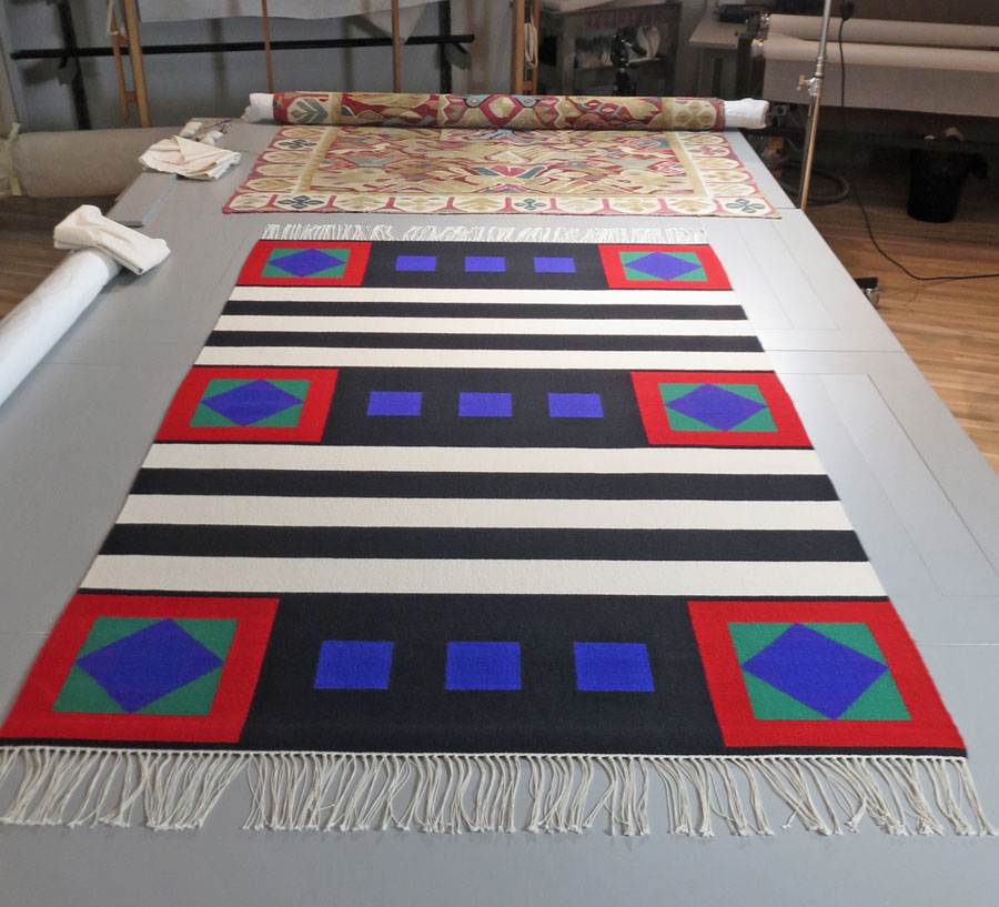 James Koehler,  Chief Blanket,  Collection of the Denver Art Museum being prepped here for the 2015-2016  Creative Crossroads  show