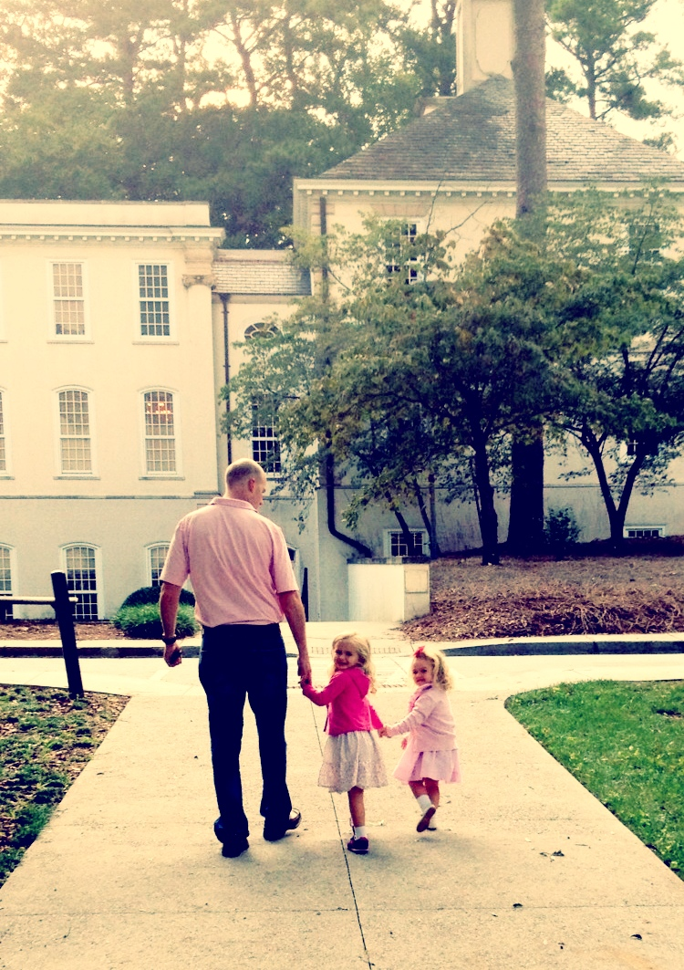 Walking my girls into their first day of school.