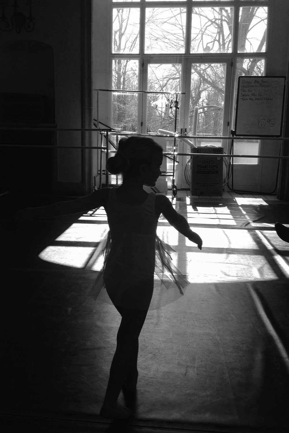 Libby, Ballet practice, March 7, 2103