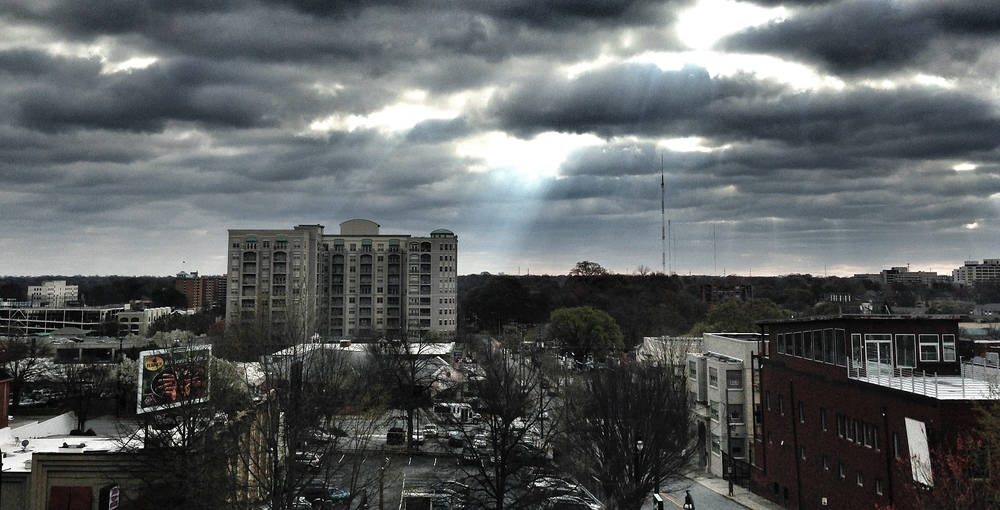 This was the view today from Emory Midtown Hospital today.