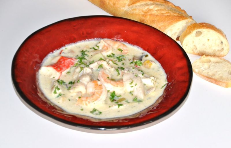 Seafood Chowder In St.John's