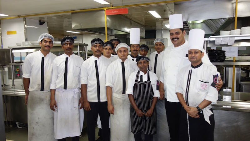 Executive Chef Jose Thomas and his talented team at The Fifth Element restaurant, Vivanta by Taj Hotel, Trivandrum