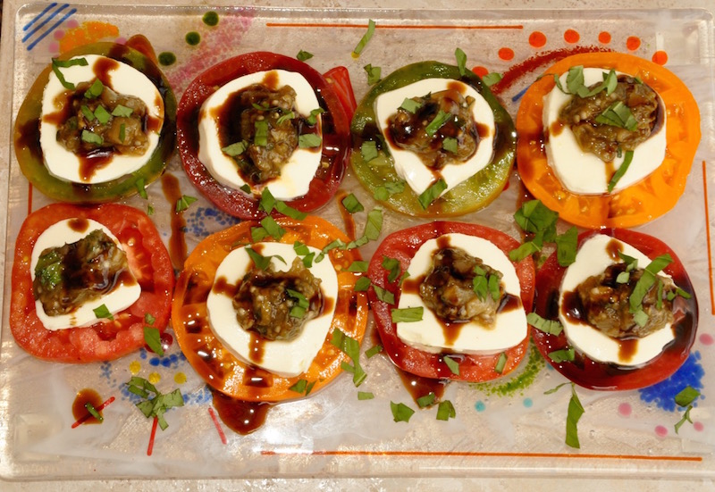Tomato Salad With Grilled Eggplant Confit