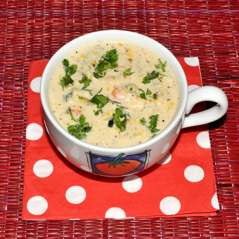 Grilled Corn Chowder