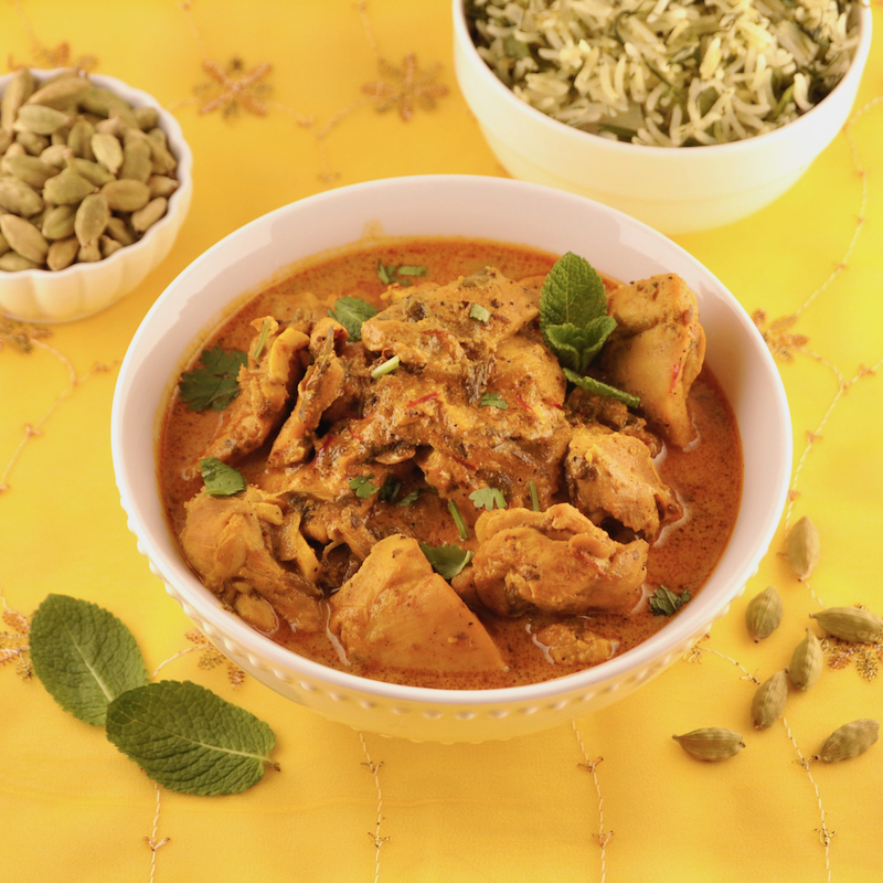 Kashmiri Cardamom Chicken Curry