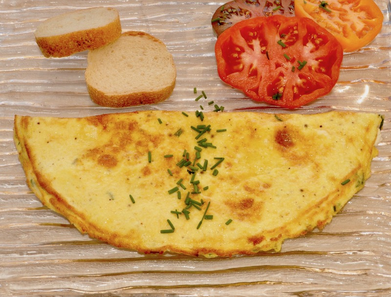 Chèvre Omelettes