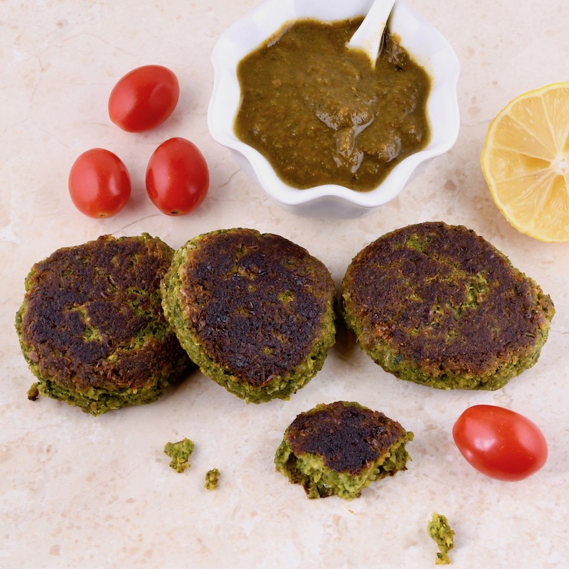 Spinach & Corn Kababs