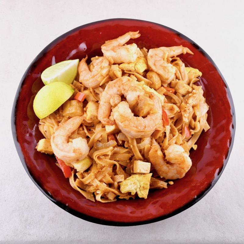 Stir Fried Rice Noodles With Shrimp