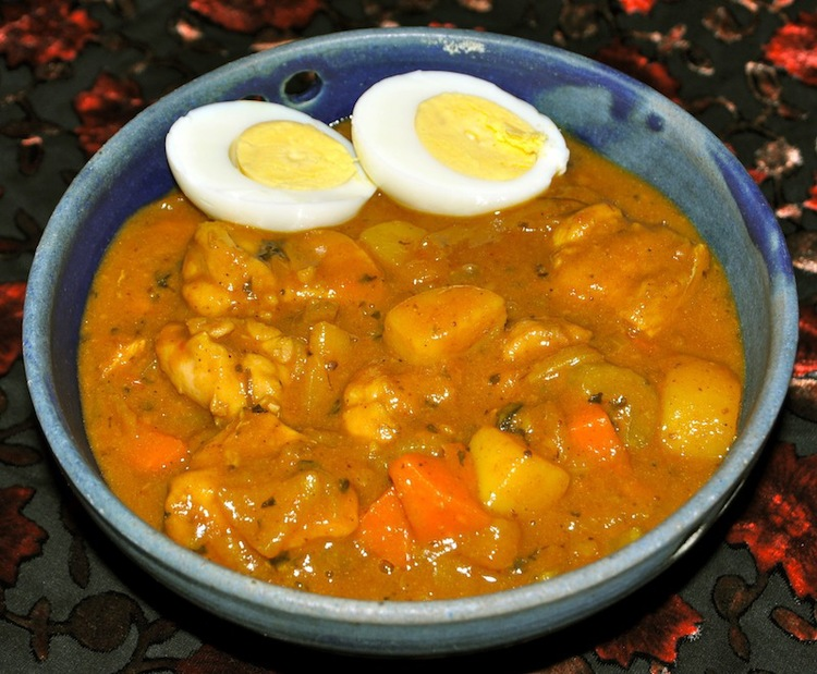 Chicken Curry With Vegetables And Soy Sauce