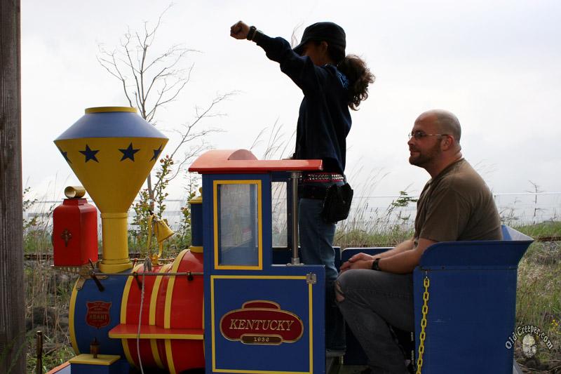 Train says WHOOP WHOOP
