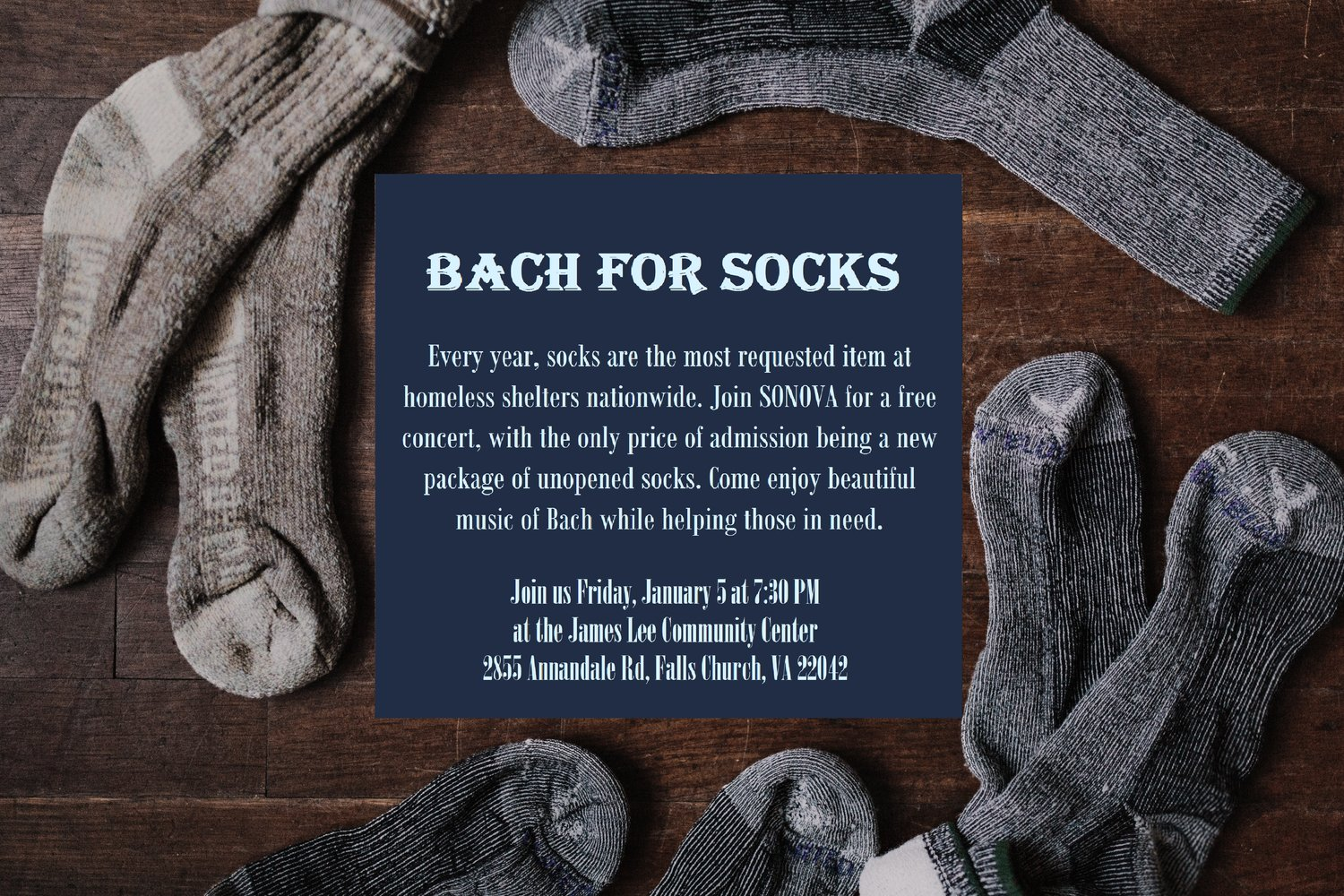 Bach for Socks — Symphony Orchestra of Northern Virginia