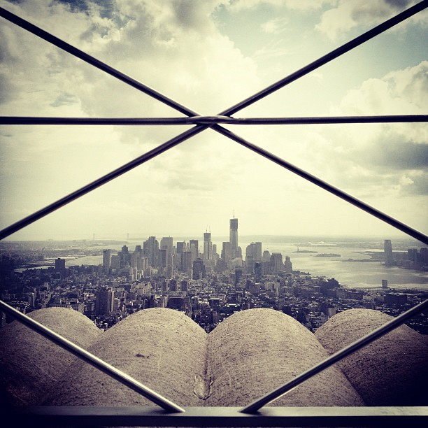 View From Empire State Building #nyc #newyork #ny #instagood #instamood #instagramers #picoftheday #tweegram #instadaily #photooftheday #bestoftheday #architecture #building #Empire #iphonesia #olloclip (Taken with Instagram at Empire State Building)