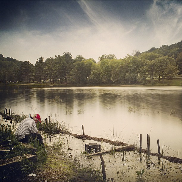 East Ingomar Road, McCandless Township, Pennsylvania, United States #pittsburgh #usa #pennsylvania #pa #instagood #instamood #instagramers #picoftheday #tweegram #water #reflection #people #fishing #instadaily #photooftheday #bestoftheday (Taken with Instagram at Pittsburgh , PA , USA)