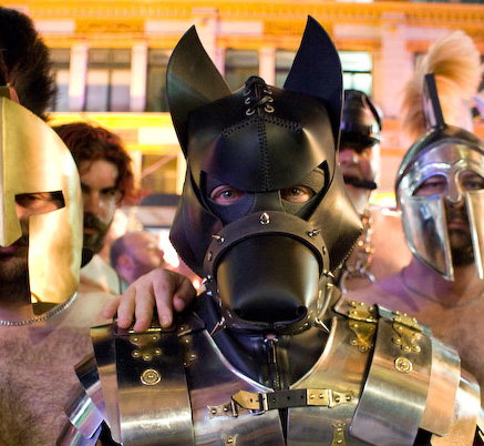 Pup Boss at Sydney Gay Mardi Gras parade