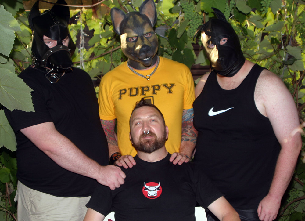 from the left:  Trooper, GPup Alpha, Brand,  and  PupBoss Jyan  in the centre