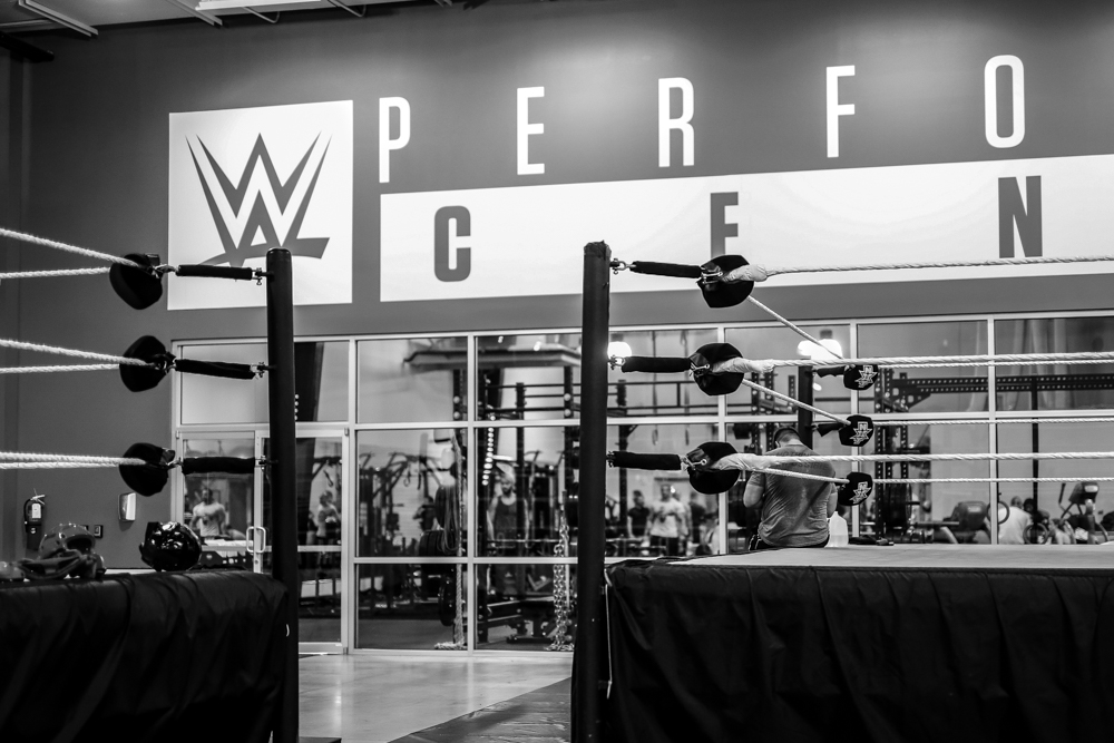 Kevin Owens enjoying a rare break at the WWE Performance Center in Orlando, FL.