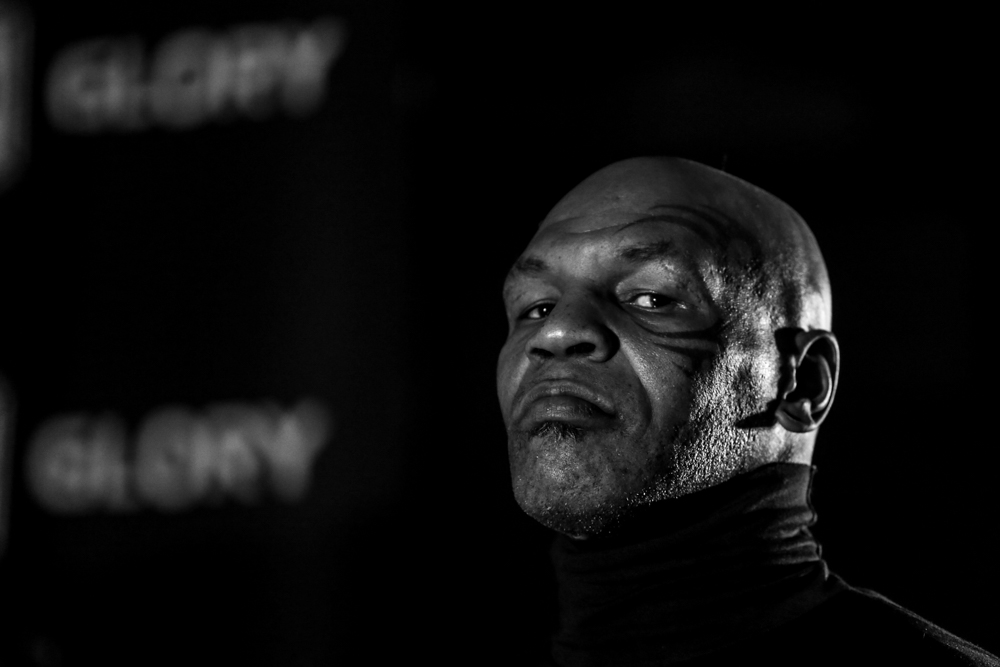 Mike Tyson giving me the stink eye in Hampton, Virginia.